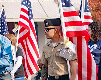 Veteran in parade